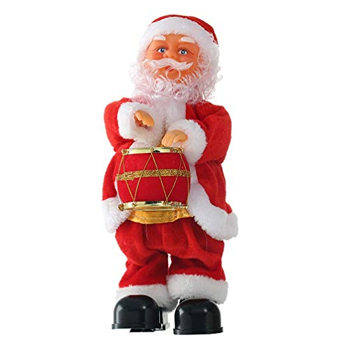 FEEE-ZC Twerking Santa Claus Christmas Musical Shaking Hips Dancing Santa Claus Toys Xmas Electric Dolls Gifts for Kids