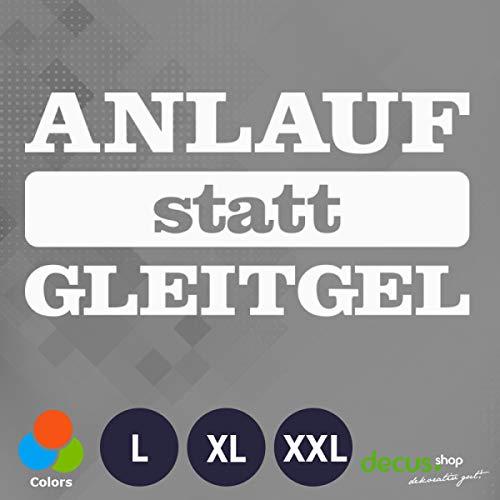 Decus ANLAUF STATT GLEITGEL L 1544 (weiß) // Sticker OEM JDM Style Aufkleber