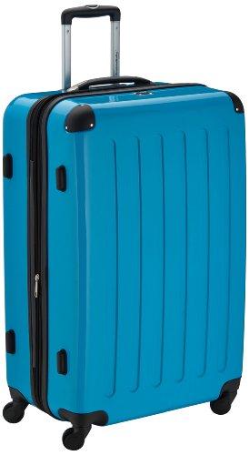 HAUPTSTADTKOFFER - Alex - Hartschalen-Koffer Koffer Trolley Rollkoffer Reisekoffer Erweiterbar, 4 Rollen,  75 cm, 119 Liter, Cyanblau