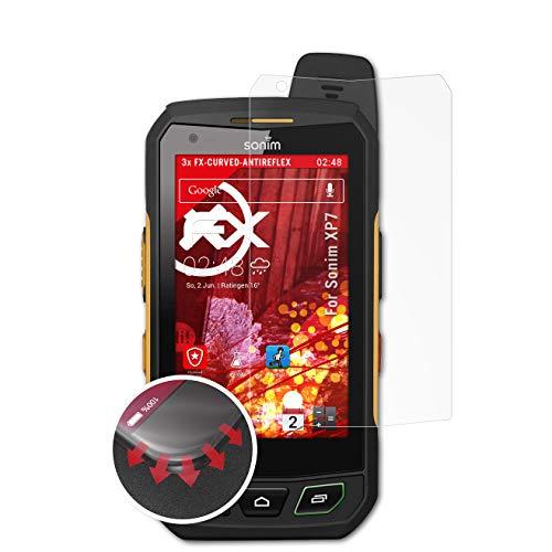 atFolix Schutzfolie kompatibel mit Sonim XP7 Folie, entspiegelnde und Flexible FX Displayschutzfolie (3X)