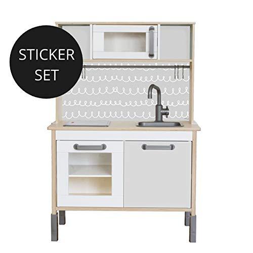 Limmaland Sticker für IKEA DUKTIG (Grau) - Kinderküche Nicht inklusive