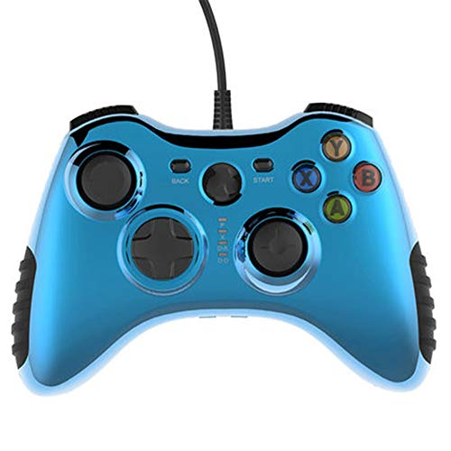 JIN Gamepad bedrade USB opladen spel joystick controller voor Windows XP/VISTA/7/8; PS3; Android 4.0 of hoger systeem, Large, Blauw