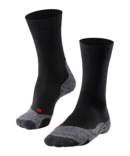 FALKE Damen Wandersocken TK2 - 1 er Pack, Schwarz (Black-Mix 3010), 37-38