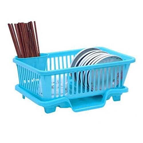 POMNGYUIL Estante del plato,Estante del secado del plato,Escurridor del fregadero de la cesta,Estante de secado plástico,Organizador de accesorios de cocina