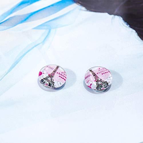 Pendientes perforados imanes de geometría de personalidad pendientes de hierro para hombres y mujeres 13#, 10 mm BCVBFGCXVB