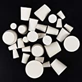29 Pack (10 Assorted Sizes) 000#-7# Solid Rubber Stoppers...