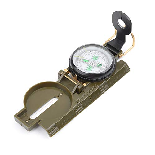 qianqian56 Draagbaar Vouwen Lens Kompas Militaire Multifunctionele Dashboard Outdoor Tool