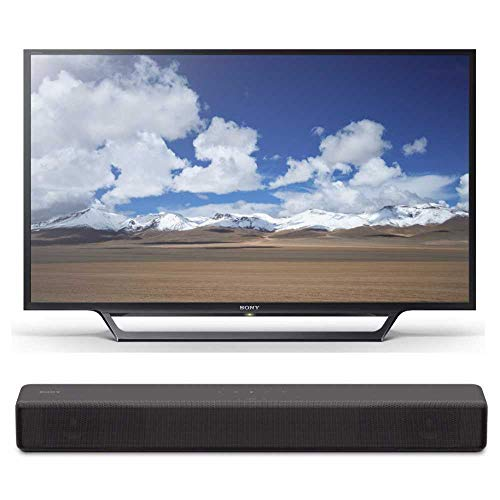 Sony KDL32W600D 32-Inch HD Smart TV with Sony S200F 2.1ch Soundbar with Built-in subwoofer (HT-S200F)