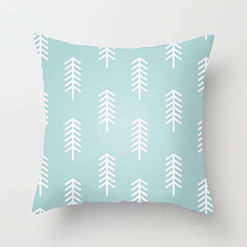 Menta Flor Europea Throw Pillow Cover Geometric Brocade Leaf Home Sofá Decoración Funda de Almohada Funda de cojín Funda de cojín A19 45x45cm 2pc