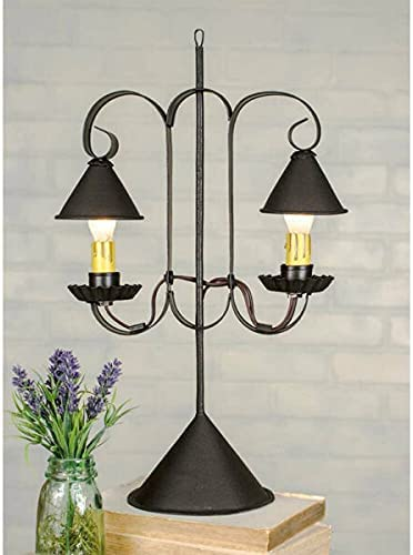 for Primitive Colonial OFFicial Max 81% OFF Double Lamp w Hanging Shade Accent L Desk