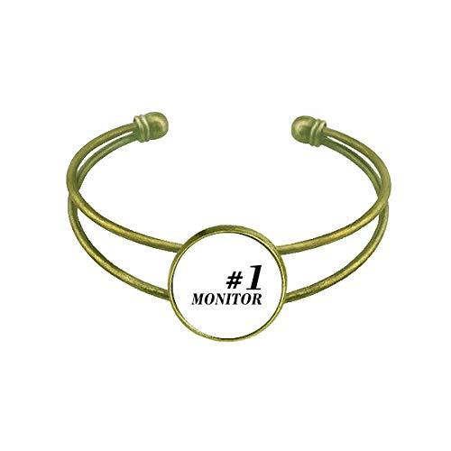 DIYthinker Number.1 Monitor Graduation Season Bracelet Bangle Retro Open Cuff Jewelry