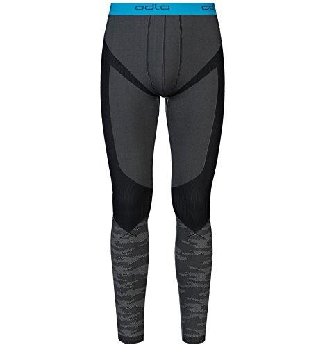 Odlo Evolution Collant Thermique Homme, Concrete Grey/Black/Blue Jewel, FR : S (Taille Fabricant : S)