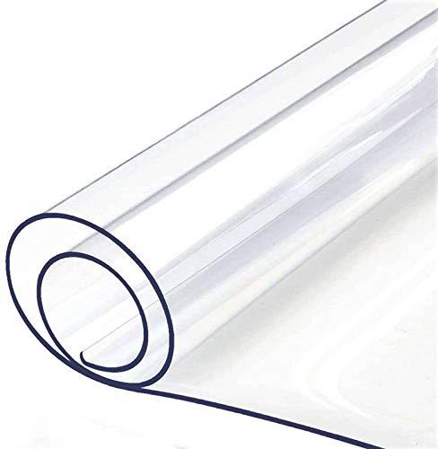 Antideslizante PVC Alfombra, Transparente Alfombra de Silla Impermeable El Plastico Piso Duro Almohadilla de Protección Felpudos Adecuado para Salón Oficina Cocina-60x90cm(24x35pulgada)-Grueso:2mm
