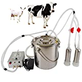Futt 5L Single Bucket Piston Vacuum Milking Machine for Cows Cattle or Sheep Optional