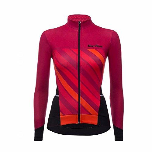 Uglyfrog Neue Damen Lady Radfahren Langarm Radfahren Trikots & Jersey eine Menge Farben Antislip Ärmel Cuff Road Bike MTB Top Riding Shirt