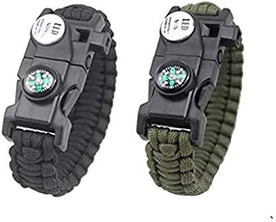 Wiiguda@ 2pcs New product! New type Paracord Adjustable Online limited product Survial Outdoo in Bracelet 1 9