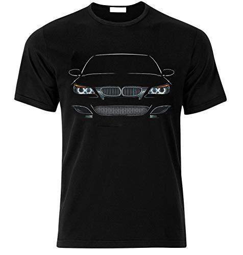 T-Shirt Inspiriert von E60 Fühle die Kraft Race Drift Speed Auto Fans T Shirt T-Shirt Weihnachts Xmas Gift (S, SCHWARZ)