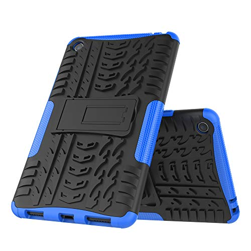 DAYNEW für Xiaomi Mi Pad 4 hülle,2 in 1 Armour Dual Layer Rüstung Defender TPU+PC schützender Zwei-Schichte Armor Design Tasche mit schlagfesten für Xiaomi Mi Pad 4-Blau