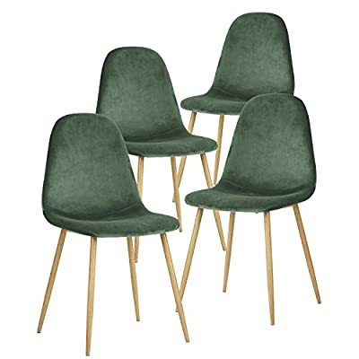 GreenForest Modern Dining Chairs Set of 4 and White Dining Table