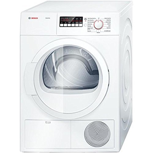 Bosch White Front Load Laundy Pair With WAT28400UC 24' 300 Series Washer and WTB86200UC 24' Ascenta Series Electric Dryer