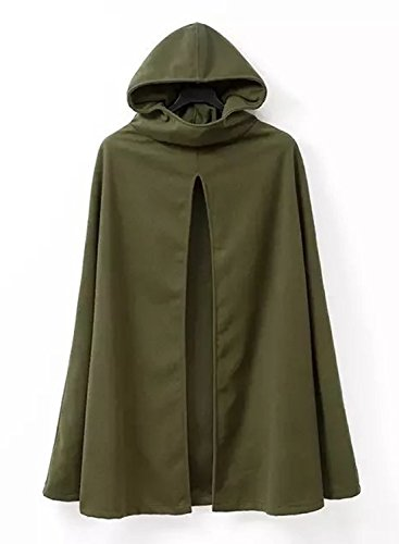 Futurino Damen Winter/Herbst Gotisch Lose Umhang mit Kapuze Mantel Poncho Kap Outwear Strickpulli Longstrickjacke - 6