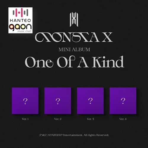 Monsta X - One Of A Kind [Random Ver] (The 9th Mini Album) [Pre Order] CD+Photobook+Folded Poster+Others with Tracking, Extra Decorative Stickers, Photocards