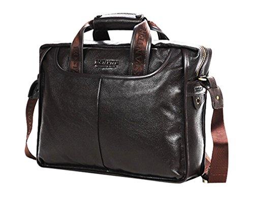 Sulandy @ borse borsa a tracolla da uomo in vera pelle cartella per l' ufficio messenger bag/abbastanza grande da contenere libri/iPad (Coffee 99)