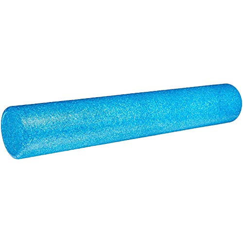Amazon Basics – Schaumstoff-Fitnessrolle, hochdicht, rund, 90 cm, blau