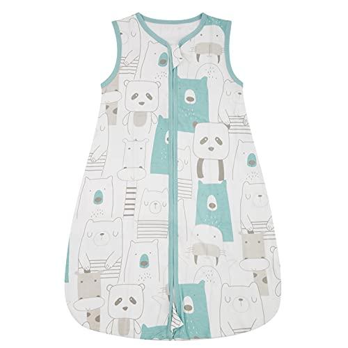 WangsCanis Toddler - Saco de dormir para bebé - Saco de dormir para bebé - Saco de dormir de verano - Cremalleras lisas ajustables - Unisex - Finas finas - Ropa ligera Panda Large