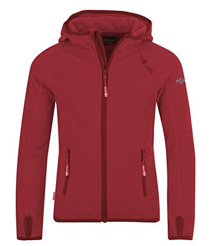 Trollkids Mädchen Sandefjord Fleece Jacke, Dunkelrosa, Größe 152