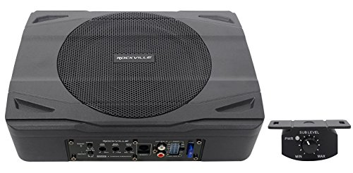 Rockville SS8P 400w 8' Slim Under-Seat Active Powered Car/Truck Subwoofer Sub