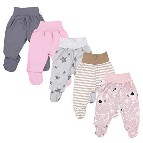 TupTam Pantalón con Pies de Bebé Pack de 5, Niña 6, 62