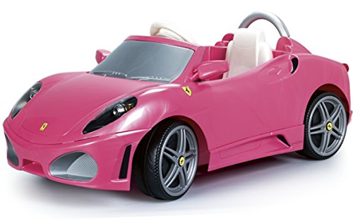 Feber Montable Ferrari F430 1, Volante con Luces y Sonidos, Color Rosa