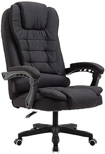 Sillón Silla de oficina, tela con respaldo alto, silla giratoria para tareas ejecutivas, escritorio para computadora, silla para juegos, reposabrazos, taburete con patas de nailon (silla de juego)