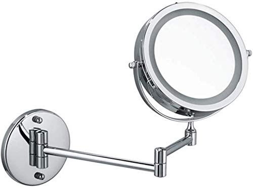 aipipl Bathroom Vanity Mirrors Mirrors For Bedroom, 5X Magnifying 7 Inch Makeup Mirror LED Foldable Portable For Home Tabletop Bathroom Shower Travel,Bathroom Mirrors Makeup Mirror Grooming Mirrors