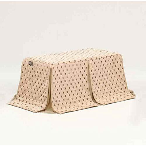ハイタイプ/ダイニングこたつ布団 長方形120×60巾コタツ用 ドット柄120 高脚用薄掛け布団