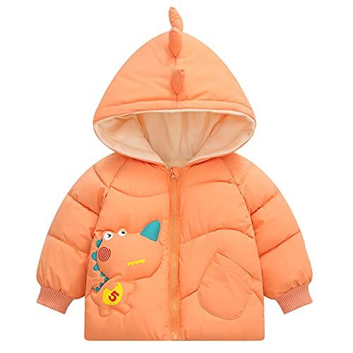 Infant Baby Snowsuit Fleece Winter Coat Romper Outwear,Boys Girls Cartoon Dinosaur Thicken Keep Warm Hooded Jacket