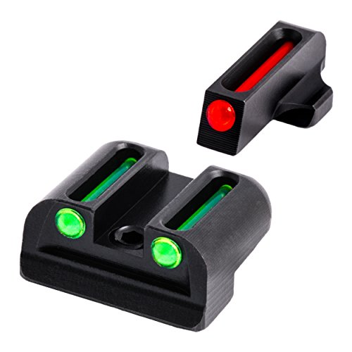 TRUGLO Fiber-Optic Front and Rear Handgun Sights for Sig Sauer Pistols, Sig #6 Front / #8 Rear Sets, Red/Green, One Size (TG131S2)