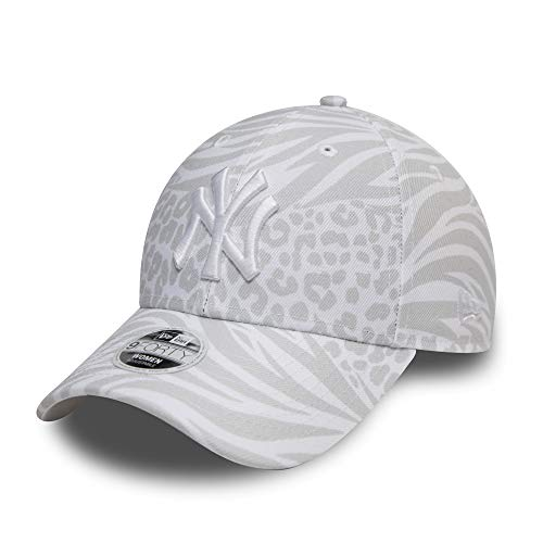 New Era New York Yankees MLB Cap New Era 9forty Verstellbar Kappe Basecap Animalprint Weiss - One-Size