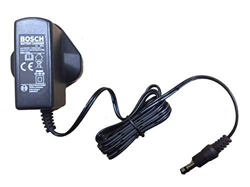 Bosch Genuine Battery Charger (To Fit:- Bosch ISIO 2 Garden Shrub/Grass/Edging Shears, Bosch PTK 3.6V-Li Tacker & Bosch PSR Select Drill/Driver) (The UK/GB 3-Pin End Version) c/w STANLEY KeyTape + Cadbury Chocolate Bar by Bosch