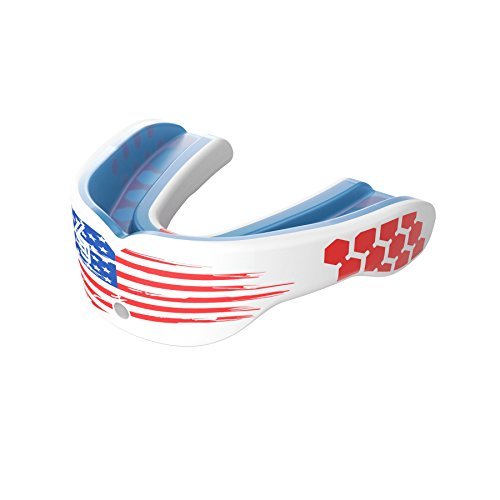 Shock Doctor Gel Max Power Mouth Guard Sports, #1 Sports Mouthguard for Football, Lacrosse, Basketball, Boxing, MMA, Jiu jitsu, Includes Detachable Helmet Strap, Youth & Adult