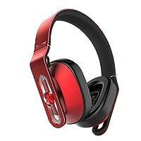 1MORE スタジオクオリティー 軽量20g ワイヤードオーバーイヤホンヘッドホン Apple iOSおよびAndroid対応マイク&リモート,赤色 ...