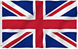 Anley Fly Breeze 3x5 Foot United Kingdom UK Flag - Vivid Color and Fade Proof - Canvas Header and Double Stitched - British National Flags Polyester with Brass Grommets 3 X 5 Ft