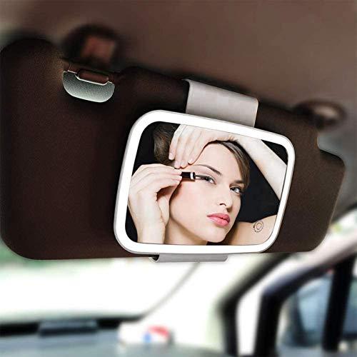 Dream-cool Auto Sonnenblende Kosmetikspiegel, Auto Makeup Spiegel Clip Auf Sonnenschutz Visier, USB Wiederaufladbare HD Auto Auto Kosmetikspiegel Mit 21 LED-Leuchten, Universal Für PKW SUV