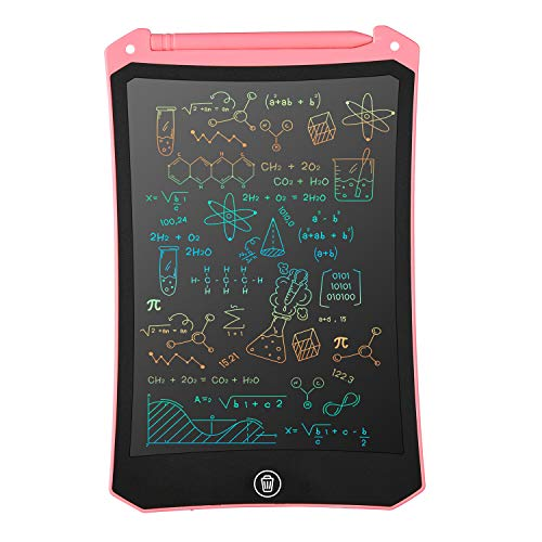 LCD Writing Tablet, Electronic Digital Writing &Colorful Screen Doodle Board, cimetech 8.5-Inch Handwriting Paper Drawing Tablet Gift for Kids and Adults at Home,School and Office (Pink)
