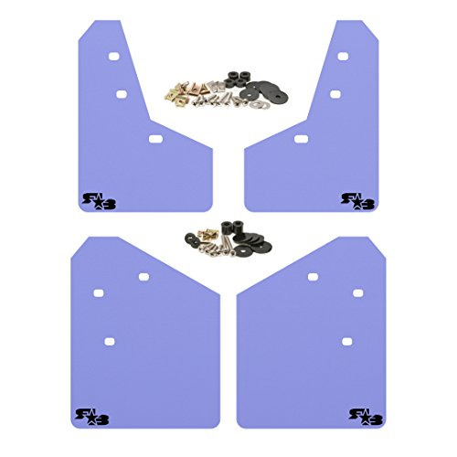 RokBlokz Mud Flaps for 2013-2017 Subaru XV Crosstrek - Multiple Colors Available - Mud Guards are Custom Cut and Fit - Includes All Mounting Hardware (Purple with Black Logo)