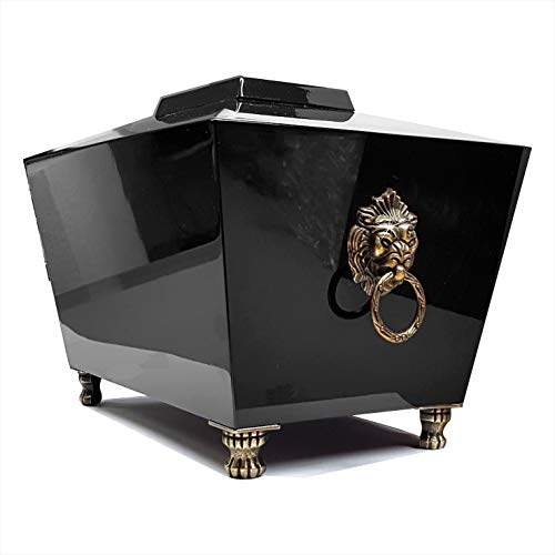 Aesthetic Urns Urne funéraire en Bois pour Cendres Adultes, Grande urne écologique pour Cendres, boîte funéraire Brillante - Noir