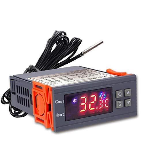 Stc-3000 de Alta precisión 12 V 24 V 220 V termostato Digital Controlador de Temperatura termómetro Sensor higrómetro (Gris y Naranja 220 V)