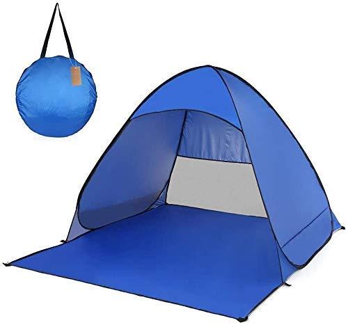 Pop Up Camping Beach Tienda Easy Confetal de carpa con porche de doble capa Doble Capa Portátil Al aire libre Tienda Ligera Ligera Impermeable Prueba de Viento Anti-UV for Pesca Senderismo Easy Setup