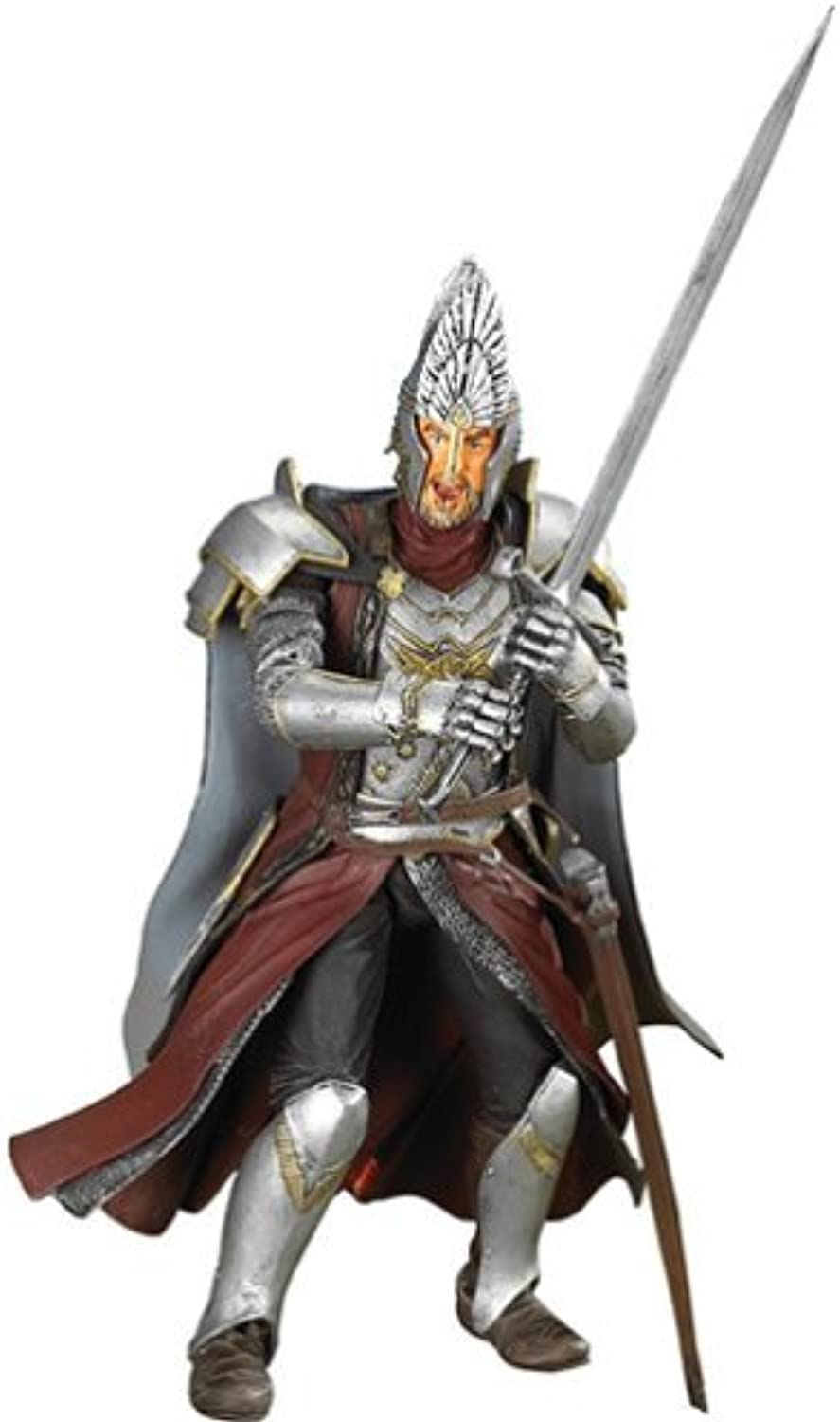 Lord of the Rings Trilogy Fellowship of the Ring Action Figure King Elendil (Sword Slashing) by Toy Biz